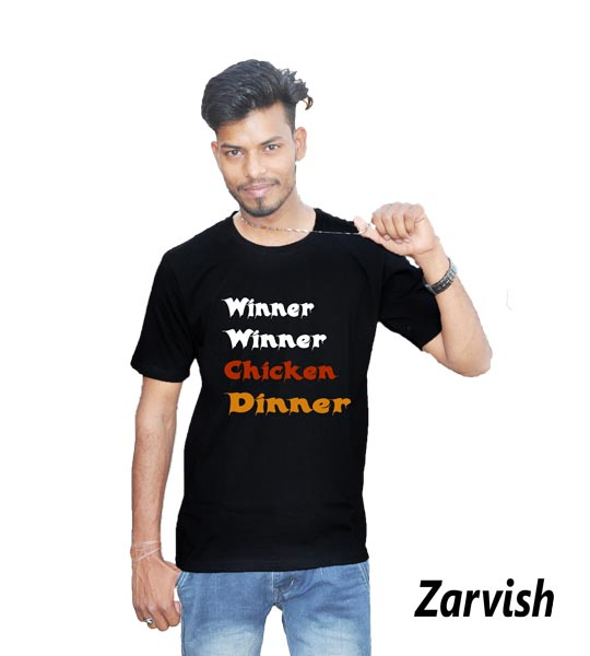 winner-winner-chicken-dinner-black-cotton-tshirt-frontsideb3daa1c7bbd009578528e6ee6df31237