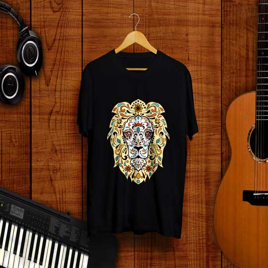 yellow-lion-black-t-shirt-frontside7ce9015a25f1116963588e415f9ad969